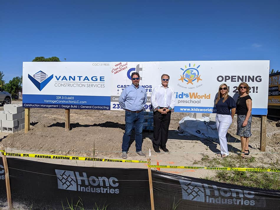 Construction of Kids World with Vantange